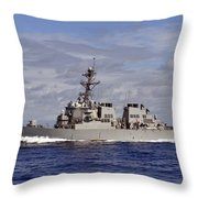 The Guided-missile Destroyer Uss Throw Pillow