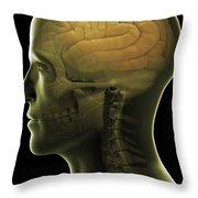 The Human Brain Throw Pillow