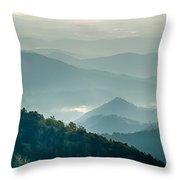 The Simple Layers Of The Smokies At Sunset - Smoky Mountain Nat. Throw Pillow
