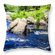 The Stream In Mountain Throw Pillow