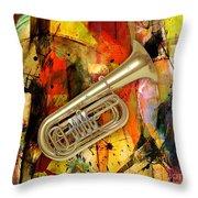 Tuba Throw Pillow