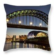 Tyne Bridge Throw Pillow