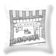 New Yorker February 13th, 2006 Throw Pillow