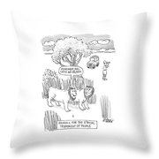 New Yorker April 24th, 2000 Throw Pillow