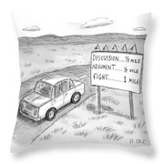 New Yorker August 1st, 2016 Throw Pillow