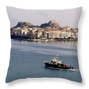 Views From Corfu Greece Throw Pillow