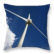 Wind Turbine Throw Pillow
