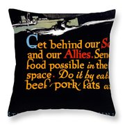 Wwi Food Supply, 1917 Throw Pillow