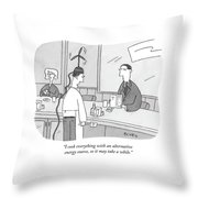I Cook Everything With An Alternative Energy Throw Pillow