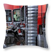 911 Console Station Throw Pillow