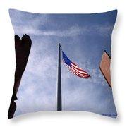 911 Tribute At Winslow Arizona Throw Pillow