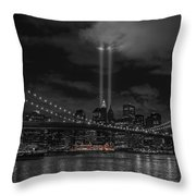 911 Tribute Lights Throw Pillow