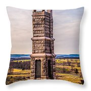 91st Pennsylvania Infantry Monument Throw Pillow