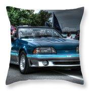 92 Mustang Gt Throw Pillow