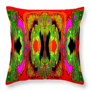 922 - A Psychedelic View ... Throw Pillow