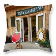 #923 D720 Colby Farm Stand Throw Pillow