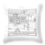 New Yorker July 7th, 2008 Throw Pillow