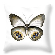 95 Palmfly Butterfly Throw Pillow by Amy Kirkpatrick