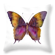 99 Marcella Daggerwing Butterfly Throw Pillow by Amy Kirkpatrick