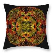995 - Mandala In Earth Colours   Throw Pillow