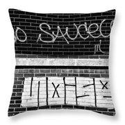 9th Ward Creativity Bw Throw Pillow