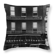 A & P Store, 1890s Throw Pillow