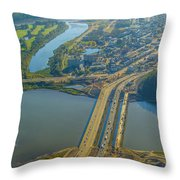Fort Mcmurray From The Sky Throw Pillow