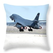A B-1b Lancer From 28th Bomb Wing Throw Pillow