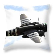 A B-25 Mitchell Performs At The Arctic Throw Pillow