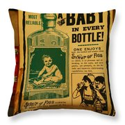 A Baby In Every Bottle Throw Pillow