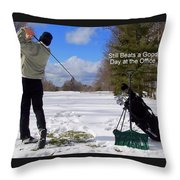 A Bad Day On The Golf Course Throw Pillow