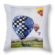 A Balloon Disaster Throw Pillow