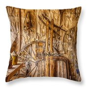 A Bannack General Store Throw Pillow