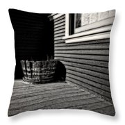 Over A Barrel Throw Pillow