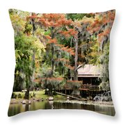A Bayou Retreat Throw Pillow