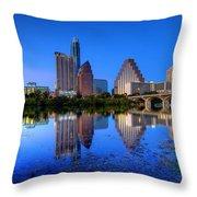 A Beautiful Austin Evening Throw Pillow