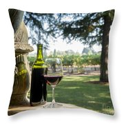 A Beautiful Day In Napa Throw Pillow