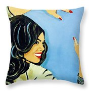 A Beautiful Girl 2 Throw Pillow