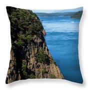 A Beautiful Landscape At Deception Pass Throw Pillow