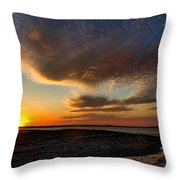 A Beautiful Night In February Throw Pillow