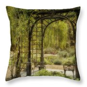 A Beautiful Place To Relax And Reflect Throw Pillow