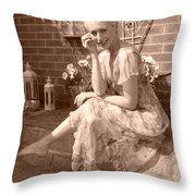 A Beautiful Smile Throw Pillow