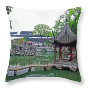 A Beauty In The Pagodo-china Throw Pillow