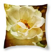 A Bee And Rose Throw Pillow