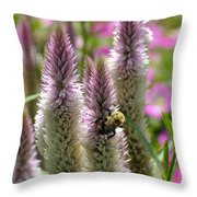 A Bee's Work Is Never Done Abwndp Throw Pillow