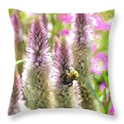 A Bee's Work Is Never Done Abwndwc Throw Pillow