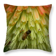 A Bee's Work Is Never Done Throw Pillow