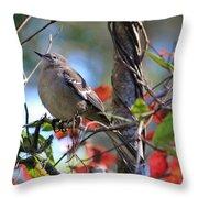 A Bird Enjoying The View Throw Pillow