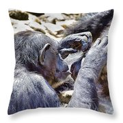A Bit Like Us V4 Throw Pillow