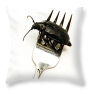 A Bite Of Water Bug Throw Pillow